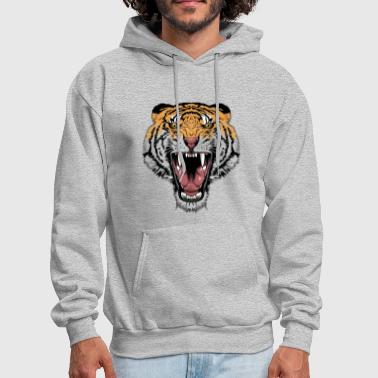 strong agressive Tiger Face - Men's Hoodie