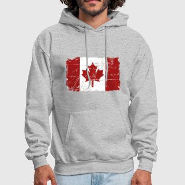 Canada Maple Leaf Flag - Vintage Look - Men's Hoodie