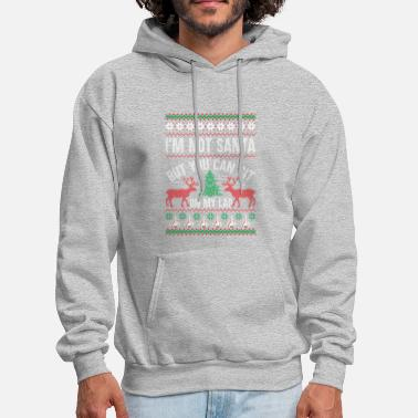 Sit Not Santa But You Can Sit On My Lap Ugly Christmas - Men's Hoodie