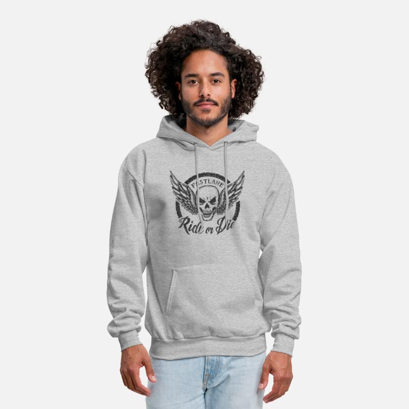 Engine Piston Hoodies & Sweatshirts - JDM Skull 2 | T-shirts JDM - Men's Hoodie heather gray