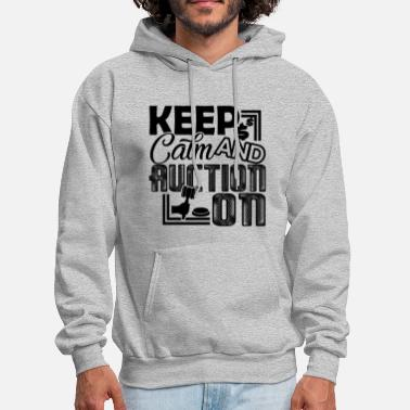 Auctions Auctioneer Keep Calm And Auction On - Men's Hoodie