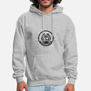 Provocation illuminati sign original pyramide eye new world fu - Men's Hoodie