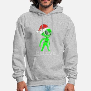 Christmas Aliens Alien Believe Gift Christmas - Men's Hoodie
