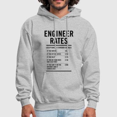 Engineer Labour Rates Mens Funny - Men's Hoodie