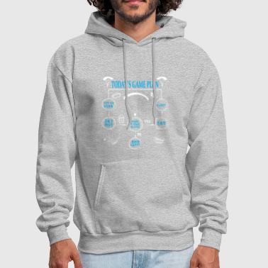 Today's Game Plan Skydive Made It Back Alive - Men's Hoodie