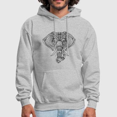 Elephant Face Shirt - Men's Hoodie