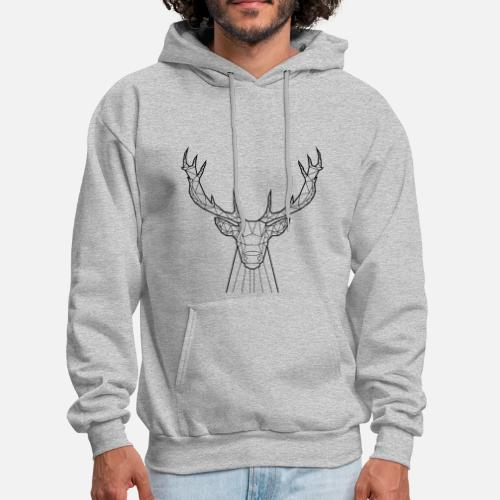 35269a96a1 Men s HoodieBlack Deer - Animal Prism. Yorkmout US