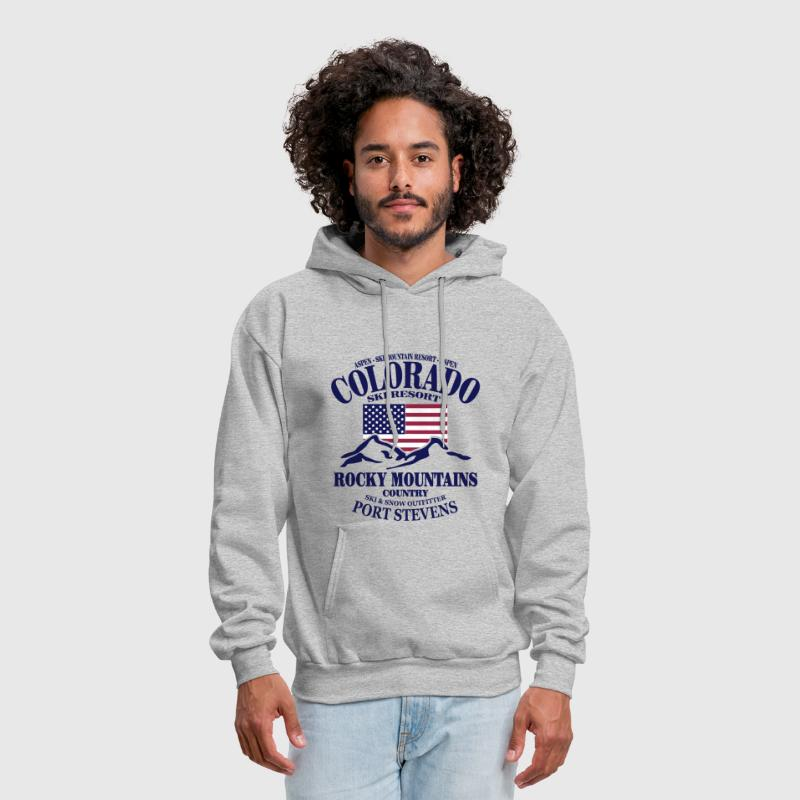 Aspen - Colorado Ski Resort - USA Flag - Men's Hoodie