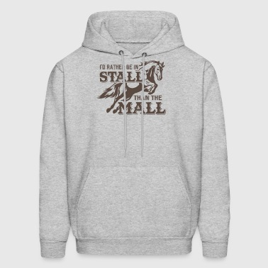 Rather in stall than mall - Men's Hoodie