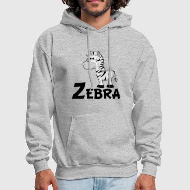 Cartoon Zebra - Men's Hoodie