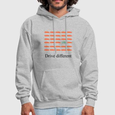 Drive Go By Car Drive different: Car or bike - Men's Hoodie