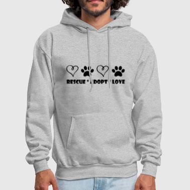 Rescue, Adopt, Love - Men's Hoodie