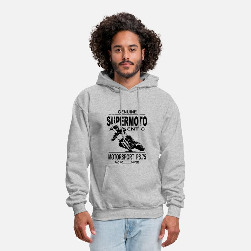 Supermoto Racing Men's Hoodie heather gray