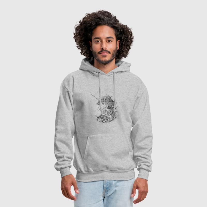 Head of a unicorn - Men's Hoodie