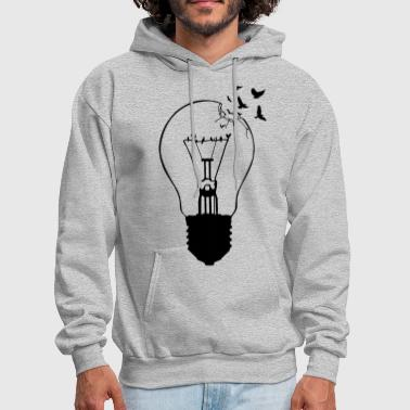 Creative Outlaw, breaking out of the old light bulb - Men's Hoodie