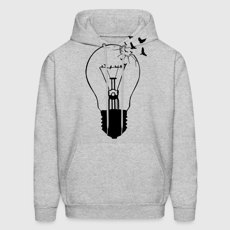 Outlaw, breaking out of the old light bulb - Men's Hoodie