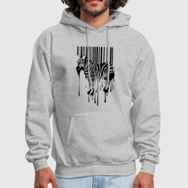 Bar Banksy Street Art Zebra Bar Code Graffiti Graff - Men's Hoodie