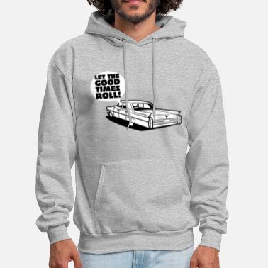 Cadillac Let the good tmes roll - cadillac oldtimer - Men's Hoodie