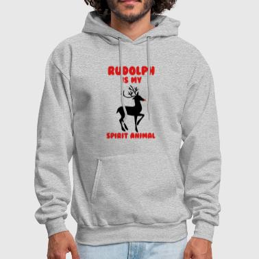 RUDOLPH IS MY SPIRIT ANIMAL - Men's Hoodie