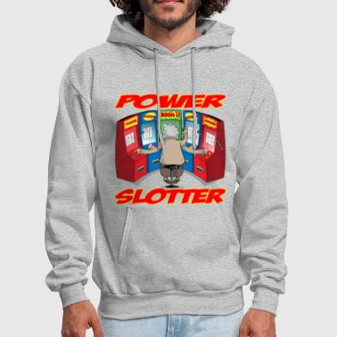 Taken By Her THE POWER SLOTTER WITH TEXT - Men's Hoodie
