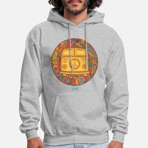 Hippie Wagon Mens Hoodie Spreadshirt
