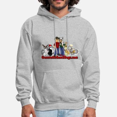 Huskies at Christmas - Men's Hoodie