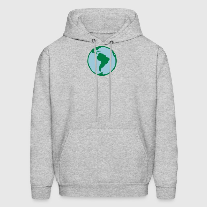 blue planet earth world 0 - Men's Hoodie