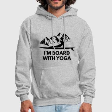 Im Board With Yoga Girl And Board - Men's Hoodie