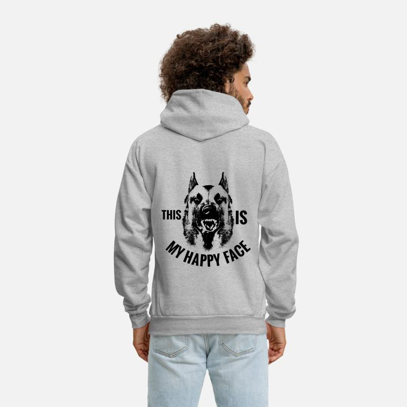 Maligator Hoodies & Sweatshirts - Belgian shepherd Malinois - Men's Hoodie heather gray