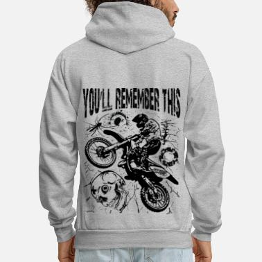 Motocross Remember Motocross - Men's Hoodie