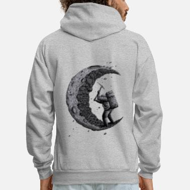 Him Digging the moon Funny - Men's Hoodie