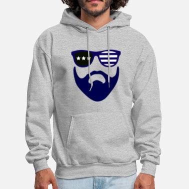 Beard Gang Blue beard-beard gang - Men's Hoodie