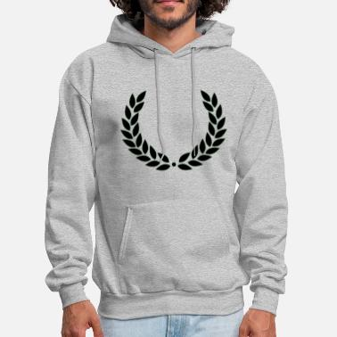 Laurel roman laurel wreath victory black leaves - Men's Hoodie