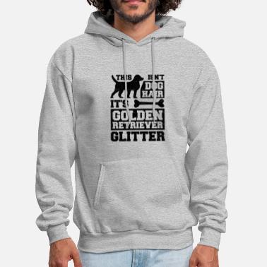Pure-bred Doggie Lover This Isn't Dog Hair It's Golden Retriever Glitter Animal Advocate - Men's Hoodie