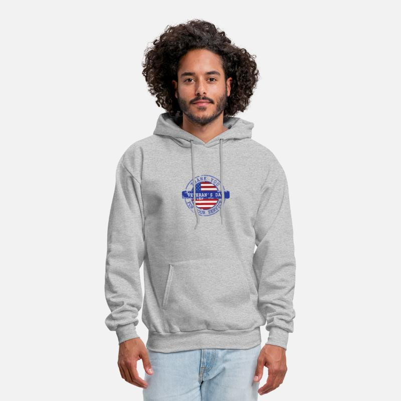Thanks Hoodies   Sweatshirts - Thank You For Your Service Patriotic  Veterans Day - Men s Hoodie ed7996f52