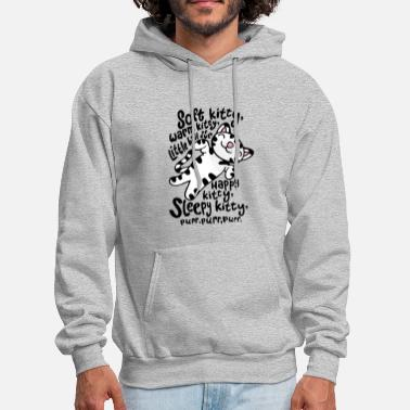 Soft Soft kitty warm kitty little ball happy kitty sle - Men's Hoodie