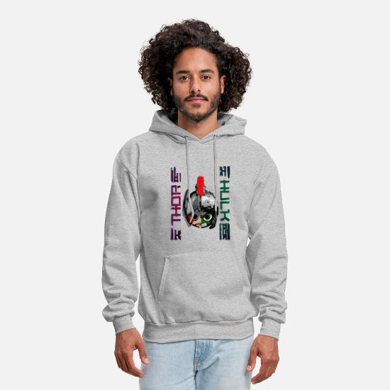 Thor Hoodies & Sweatshirts - Thor vs Hulk - Men's Hoodie heather gray