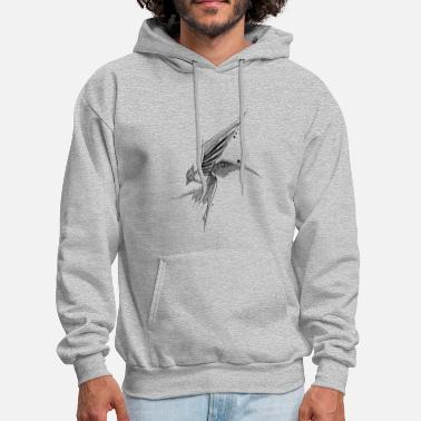Wildlife Bird fly hand drawing sketch nature image shape - Men's Hoodie