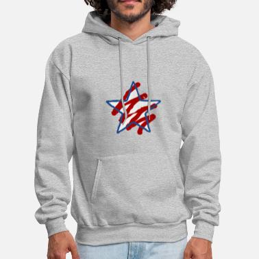 Red White And Blue Red White and Blue star - Men's Hoodie