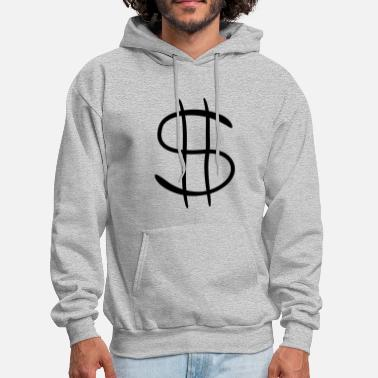 Dollar Sign dollar symbol sign richness wealth millionaire man - Men's Hoodie
