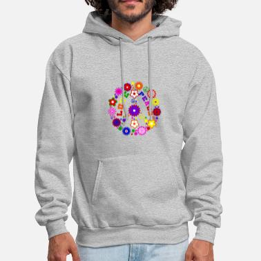 Peace Love Sign - Men's Hoodie