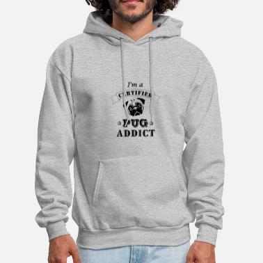 Certified Pug Addict - Men's Hoodie