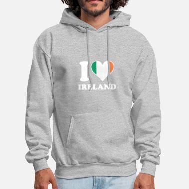 I Love Ireland I Love Ireland Irish Flag Heart - Men's Hoodie