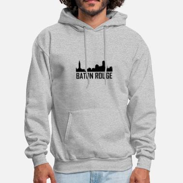 Baton Rouge Baton Rouge Louisiana City Skyline - Men's Hoodie