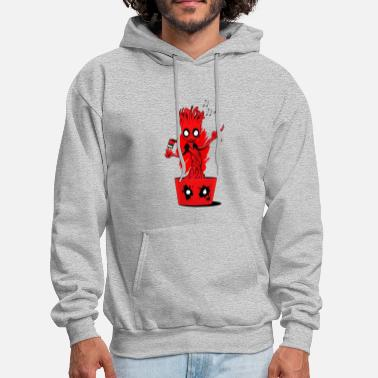 groot custom to deadpool - Men's Hoodie