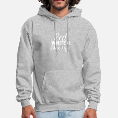 Red White And Blue Red White Blue tiful - Men's Hoodie