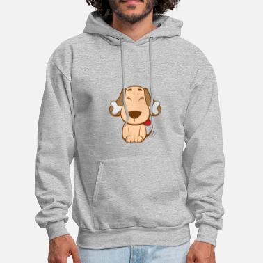 Dog with a bone - Men's Hoodie