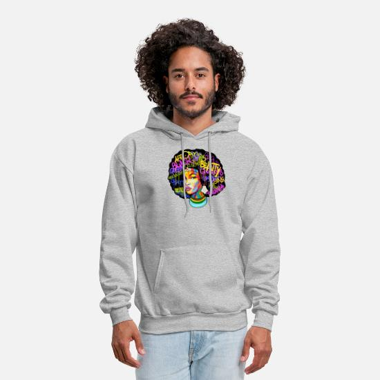 Afro Hoodies & Sweatshirts - Afro Woman Hair - Men's Hoodie heather gray