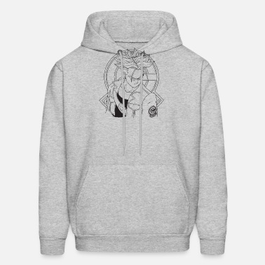 546a0e9de2e8 Dragon Ball Z Future Trunks Line Art Adult Vegeta Men s Hoodie ...