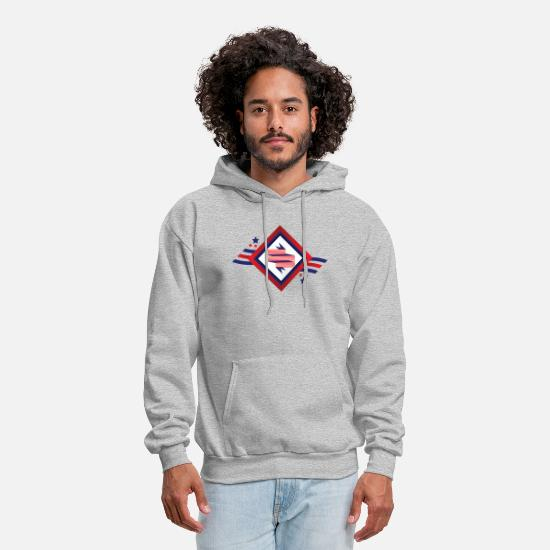 Gift Idea Hoodies & Sweatshirts - American freedom associated with USA flag2 - Men's Hoodie heather gray